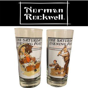 Vintage Norman Rockwell Tumblers - Set of 2